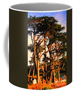 The Old Grove At The Ranch At Sunset . 40d4531 . Painterly Coffee Mug