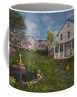 Coffee Mug featuring the digital art The Old Home Place by Mary Almond