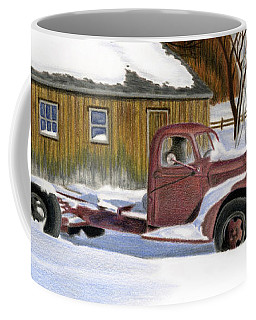 Old Truck Drawings Coffee Mugs