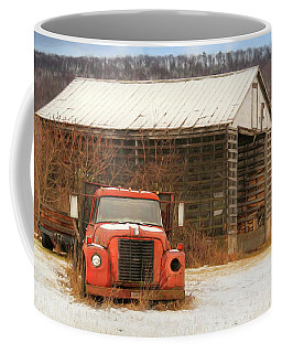 Coffee Mug featuring the photograph The Old Lumber Truck by Lori Deiter