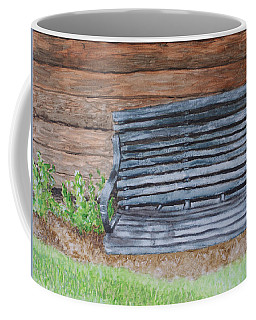 Coffee Mug featuring the painting The Old Porch Swing by Jean Haynes