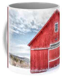 The Old Red Barn Newport New Hampshire Watercolor Coffee Mug