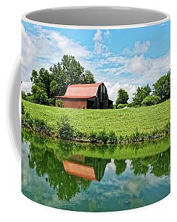 The Old Red Roofed Barn Coffee Mug