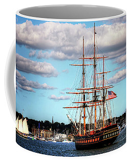 Coffee Mug featuring the photograph Tall Ship The Oliver Hazard Perry by Tom Prendergast