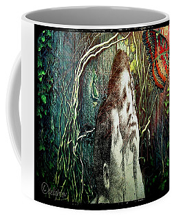 Coffee Mug featuring the digital art The Only Word... by Delight Worthyn
