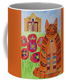 the Orange Alamo Cat Coffee Mug