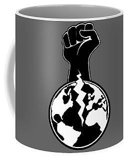 Coffee Mug featuring the digital art The Orchestrator Fist by Jayvon Thomas