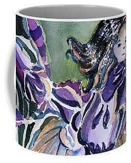 Coffee Mug featuring the painting The Orchid Fairy by Mindy Newman