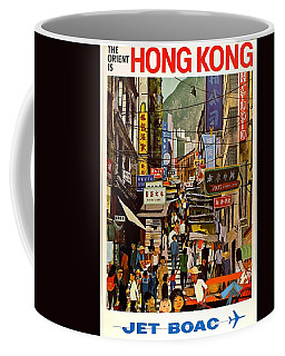 The Orient Is Hong Kong - British Overseas Airways Corporation - Jet Boac - Retro Travel Poster Coffee Mug