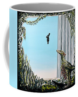Coffee Mug featuring the painting The Origin Of Species -a Recurring Pattern- by Ryan Demaree