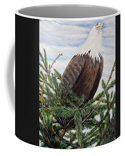 Coffee Mug featuring the painting The Oversee'er by Marilyn  McNish