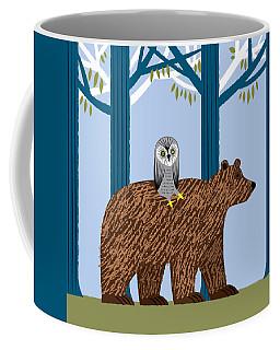 The Owl And The Bear Coffee Mug