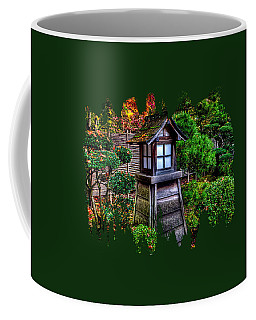 Coffee Mug featuring the photograph The Pagoda At The Japanese Gardens by Thom Zehrfeld