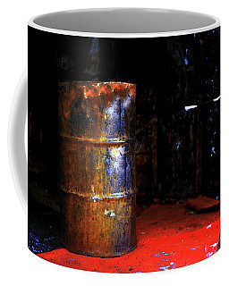 Coffee Mug featuring the photograph The Painted Barrel by Wayne King