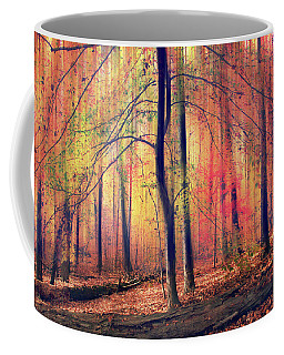 Coffee Mug featuring the photograph The Painted Woodland by Jessica Jenney