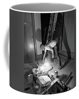 Coffee Mug featuring the photograph The Painter And Her Tools by David Pantuso
