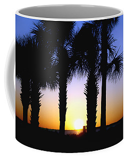 Coffee Mug featuring the photograph The Palms At Sunset by Debra Forand