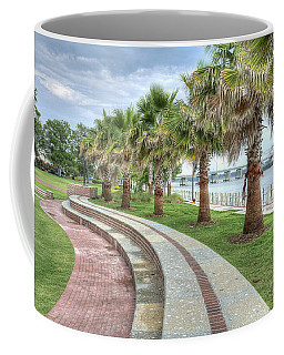 The Palms Of Water Front Park Coffee Mug