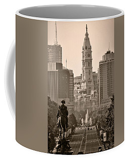 The Parkway In Sepia Coffee Mug by Bill Cannon