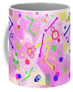 Coffee Mug featuring the digital art The Party Is Here by Silvia Ganora