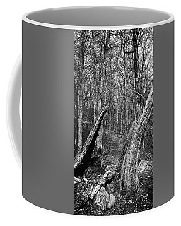 The Path Through The Woods Bandw Coffee Mug