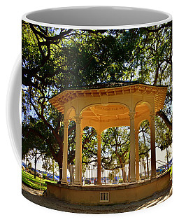 Coffee Mug featuring the photograph The Pavilion At Battery Park Charleston Sc  by Lisa Wooten