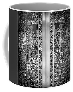 Coffee Mug featuring the photograph The Peacock Door by Howard Salmon
