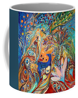 The Peacocks And Blue Deer Coffee Mug