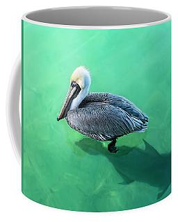 The Pelican And The Shark Coffee Mug