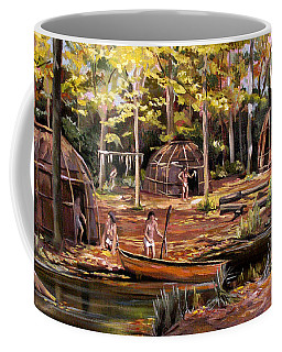 Coffee Mug featuring the painting The Pequots by Nancy Griswold