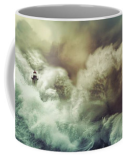 Coffee Mug featuring the digital art The Perfect Storm by Lilia D