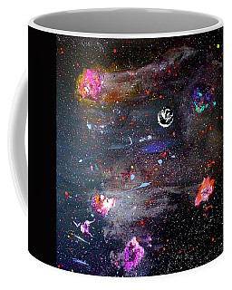 Coffee Mug featuring the painting The Perfect Storm by Michael Lucarelli