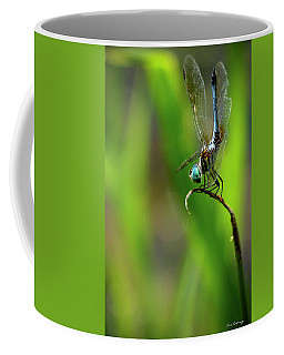 Coffee Mug featuring the photograph The Performer Dragonfly Art by Reid Callaway