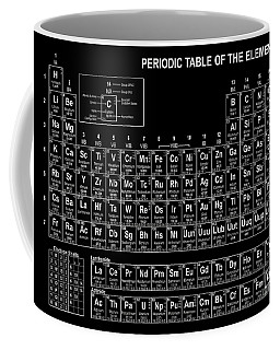 The Periodic Table Of The Elements Black And White Coffee Mug