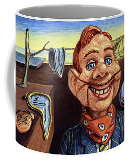 Coffee Mug featuring the painting The Persistence Of Doody by James W Johnson