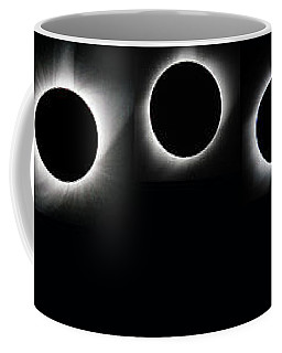 The Phases Of An Eclipse - Curved Coffee Mug