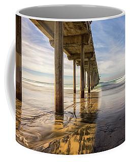 The Pier And Its Shadow Coffee Mug