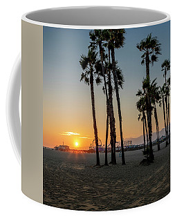 The Pier At Sunset - Square Coffee Mug