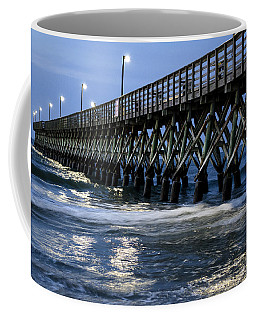 The Pier At The Break Of Dawn Coffee Mug by David Smith