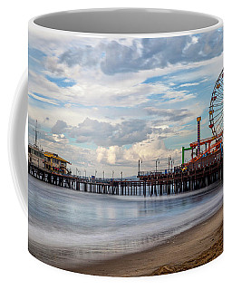 The Pier On A Cloudy Day Coffee Mug