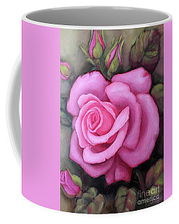 The Pink Dream Rose Coffee Mug by Inese Poga