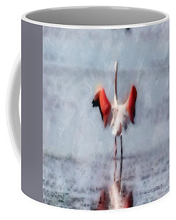 The Pink Flamingo In Watercolor Coffee Mug