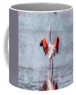 The Pink Flamingo In Watercolor Coffee Mug