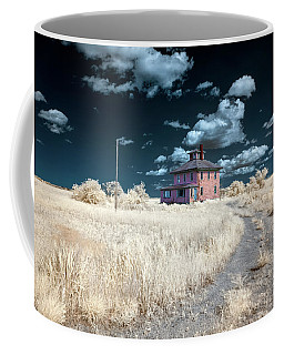 Coffee Mug featuring the photograph The Pink House In Halespectrum 1 by Brian Hale