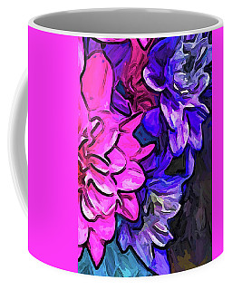 The Pink Petals With The Purple And Blue Flowers Coffee Mug