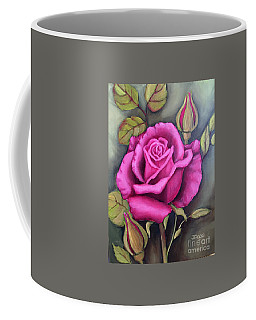 The Pink Rose Coffee Mug by Inese Poga