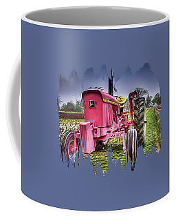 Coffee Mug featuring the photograph The Pink Tractor At The Wooden Shoe Tulip Farm by Thom Zehrfeld