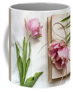 Coffee Mug featuring the photograph The Pink Tulips by Kim Hojnacki
