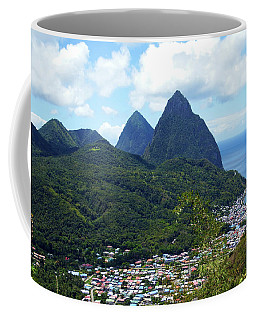 Coffee Mug featuring the photograph The Pitons, St. Lucia by Kurt Van Wagner