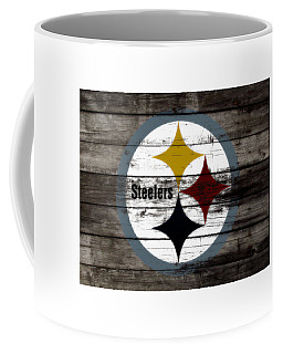 Coffee Mug featuring the mixed media The Pittsburgh Steelers W7 by Brian Reaves